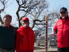 日大明誠:令和2年度卒業生の梅の記念植樹を支援